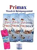3 x 10 Kg Primax Waschpulver im PVC-Sack + 1 Dose Fleckenentferner +Microfasertuch