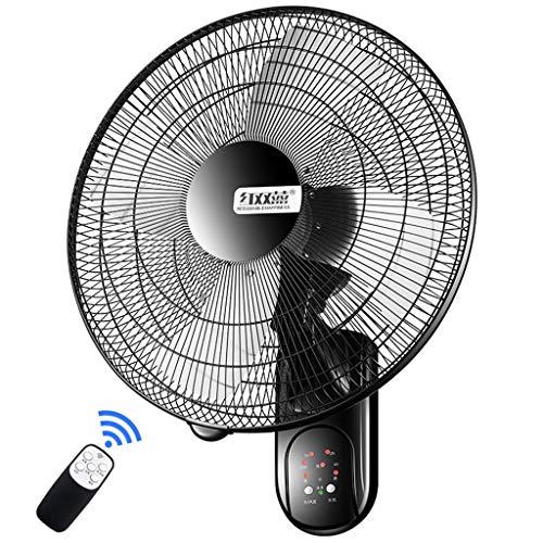 Wandventilator Wand-Ventilator Oszillierend 50cm Mit Fernbedienung und Timer/3 Geschwindigkeit/ 3 Windmodus/Aluminiumlegierung / 60W -