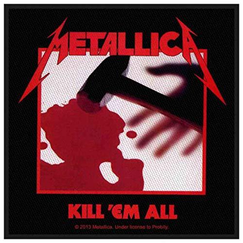 METALLICA Aufnäher KILL ´EM ALL Patch gewebt 10 x 9,5 cm (Kill All Patch Em)