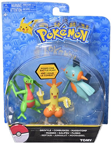 Pokémon T18524 - Pokémonfiguren, 3-er Set, assortiment