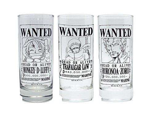 Chopper Glas (One Piece - Gläser 3er Set - Wanted - Luffy Ruffy - Trafalgar - Zoro)