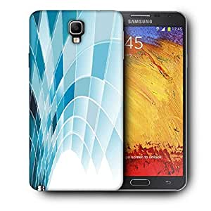 Snoogg Blue Squares Abstract Printed Protective Phone Back Case Cover For Samsung Galaxy NOTE 3 NEO / Note III