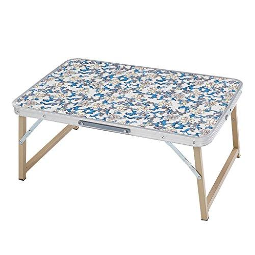 Table Pliante Ordinateur Portable Bureau en Alliage d'aluminium Ménage Table Pliante 72cm x48cm (L & W)