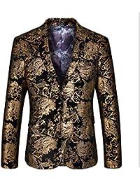 HX fashion Giacca da Uomo Moderna Slim Fit Giacca Casual Blazer Taglie  Comode Slim Fit Suit Giacche 2 Bottoni Affari Eleganti Stampati A… 2c0991cca3b