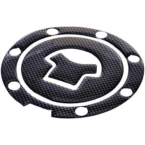 Adesivo Moto Nero gas del combustibile tappo del serbatoio del rilievo copertura della decalcomania della protezione