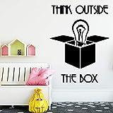 Njuxcnhg DIY Denken außerhalb wandaufkleber abziehbilder Haus Dekoration für Kinder Baby Zimmer Hintergrund dekor wandaufkleber naklejki 42x54 cm