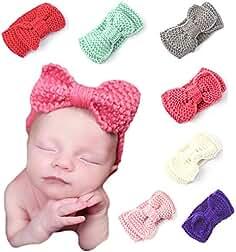 Lot de 6 des bandeaux de la laine de cheveux pour bébés 555d1932729