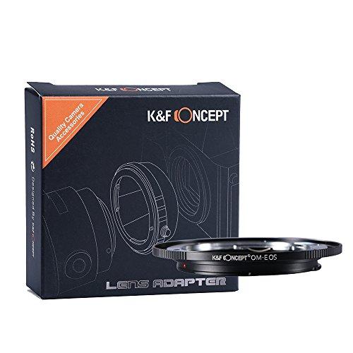 K&F Concept® OM-EOS Objektivadapter,Objektiv Adapter Canon,Objektiv Adapterring für Olympus OM Objektive auf Canon EOS Kamera Canon EOS 1D 1DS Mark II 7D 40D 70D Digital Rebel T2i T3 T3i T4i T5i SL1 (T2i Canon-objektive Für Rebel)