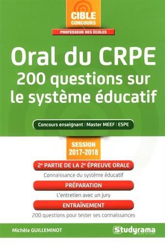 Oral du Crpe 200 Questions Sur le Systeme ducatif