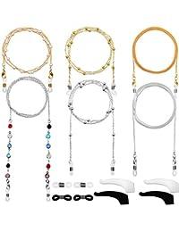 6 Piezas Cadena de Gafas Retenedor de Gafas Elegante Cordón Gafas con Abalorios