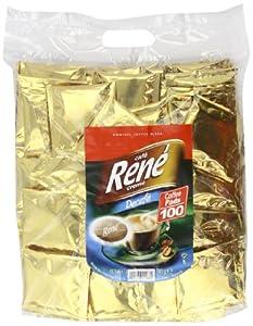 Café Rene Crème Decaffeinated Coffee Pads (Pack of 1, Total 100 Coffee Pads)