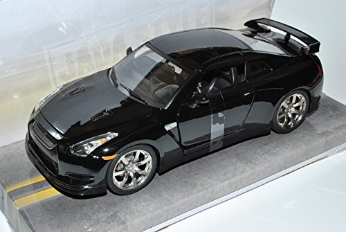 Nissan-Skyline-GT-R-R35-Coupe-Schwarz-Ab-2008-124-Jada-Modell-Auto-mit-oder-ohne-individiuellem-Wunschkennzeichen