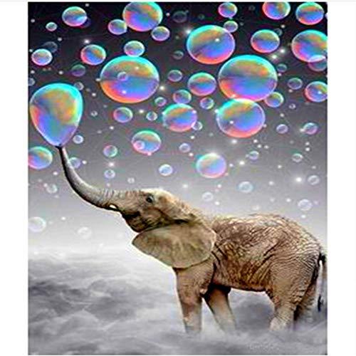 WACYDSD Puzzle 1000 Piezas Elefante Y Burbujas De Aire Juego De Rompecabezas Clásico Bricolaje Juguete De Madera Decoración para El Hogar