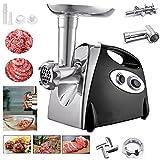 Elektrischer Fleischwolf, YUMUN Profi Wurstmaschine Set, Multifunktions Küchenmaschine Fleisch-schwarz