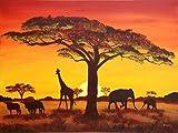 Lais Puzzle Sonnenuntergang mit afrikanischen Tieren 2000 Teile