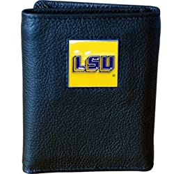 NCAA LSU Tigers Genuine Leather Tri-fold Wallet