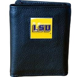 NCAA LSU Tigers Genuine Leather Tri-fold Wallet