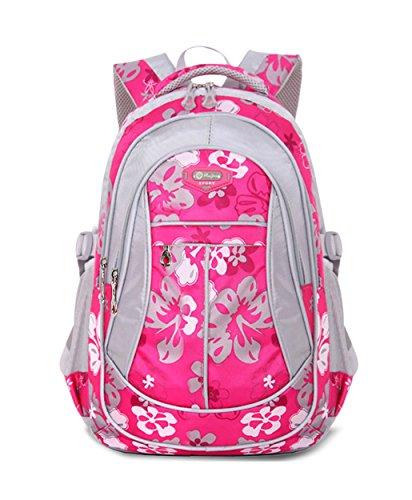 Tibes Oxford Rucksack gedruckt Nette wasserdichte Rucksack Schulrucksack für Mädchen Rosa 1 S Rose Rosa