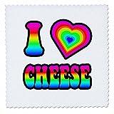 3drose Groovy Hippie Rainbow I Heart Love Gymnastik, Quilt,