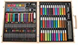 Artyfacts Portable Art Studio Deluxe Kit W/Wood Case-131 Pieces