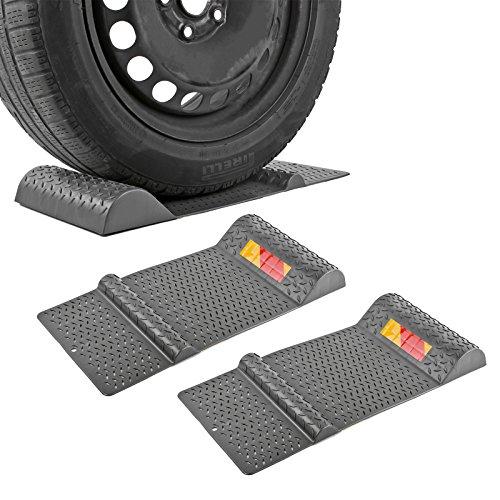 APT 2X Parkmatte Grau 52 x 25 cm selbstklebend Rutschfest Einparkhilfe - Auto Für Garage-boden-matte