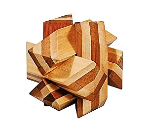 Fridolin GmbH IQ de Prueba Difficult Parte schräger Nodos Paciencia Parte bambú