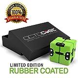 OCTOCUBE Infinito de Lujo Fidget Cubo - Infinito Rompecabezas 3D Premium | Alivio del estrés, la ansiedad, reducción de la presión Verde