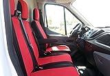 2 + 1 Schonbezüge + Tischbezug Passgenau Polyester Sitzbezüge Rot Hochwertig Neu