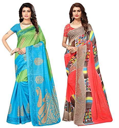 Applecreation sarees new collection combo offers for women art silk & georgette...