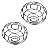 KaariFirefly 2Pcs Stainless Steel Spring Wire Mixing Mixer Ball for Shaker Drink Bottle Cup