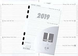 kalendereinlage kalender 2019 a5 f r timer terminer zeitplaner 1 woche 2 seiten 76000. Black Bedroom Furniture Sets. Home Design Ideas