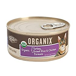 Castor and Pollux Organix Turkey Brown Rice And Chicken Formula Canned Cat Food 5.5 oz x 18 cans