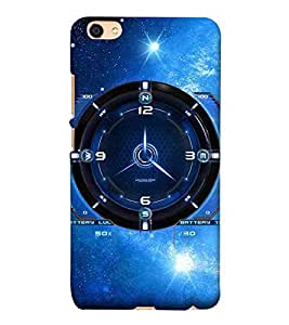 For Vivo Y55 :: Vivo Y55L :: Vivo Y55s clock, sky blue background, machine, blue clock Designer Printed High Quality Smooth Matte Protective Mobile Pouch Back Case Cover by BUZZWORLD