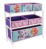 Fun House 712746 Etagère avec 6 Casiers pour Enfant Métal/Polyester/Carton Violet 66 x 30 x 63,5 cm
