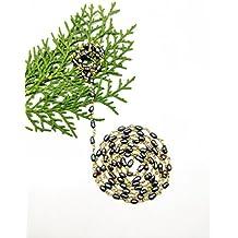 New prime offerta su 3piedi 2x 6mm fantasia perle naturali con rivestimento liscio in rilievo catena placcata oro Powered by gioiello perle.
