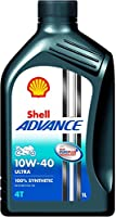Shell Advance Ultra 550045008 10W-40 API SM Fully Synthetic Motorbike Engine Oil (1 L)