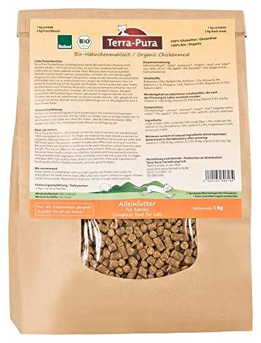 Bio-Hähnchenmahlzeit, kaltgepresstes Trockenfutter für Katzen, 1 kg