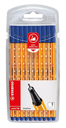 Fineliner - STABILO point 88-10er Set blau
