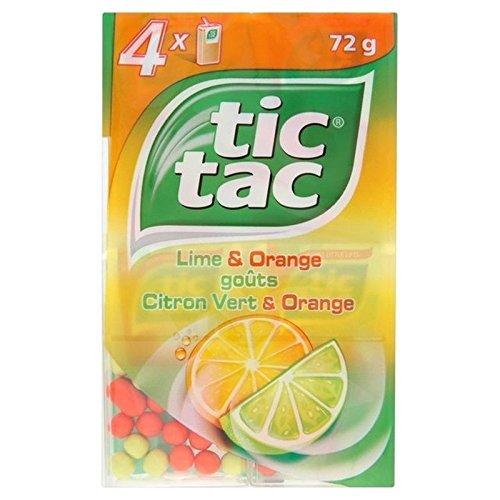 Tic Tac De Chaux Et D'Orange 4 X 18G - Paquet de 6