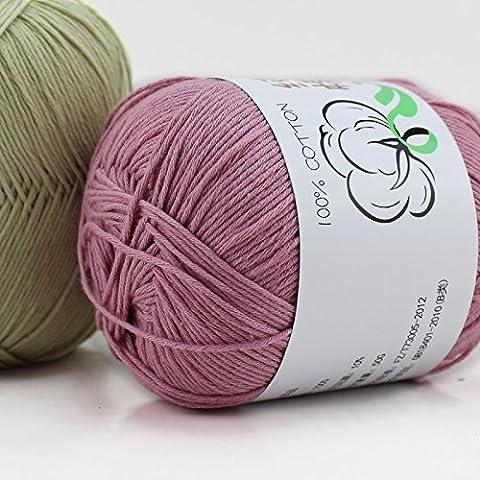 Nuevos Hilos Lotus Pure bebé 100% algodón de hilos de estambre respetuoso del medio ambiente teñido de ganchillo hilo para
