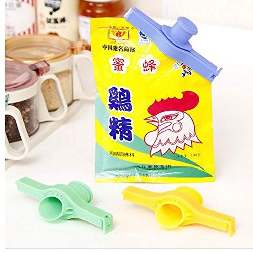 Zonster 2ST Praktische Kreativer Hauptdichtkissen Abgabedüse Food Tube Sealed Clip Supplies Küche Lagerung Kunststoff-Werkzeug - Food Tube