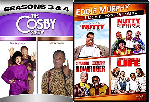 Show Eddie Murphy & The Nutty Professor & The Klumps 2 Bowfinger Steve Martin + Life & Cosby Show Comedy DVD Movie & TV Funny Man Triple Pack