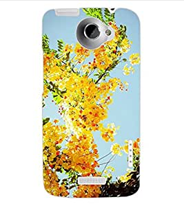 ColourCraft Lovely Flowers Design Back Case Cover for HTC ONE X