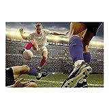 Apalis Vliestapete Fußballtaktik Fototapete Breit   Vlies Tapete Wandtapete Wandbild Foto 3D Fototapete für Schlafzimmer Wohnzimmer Küche   mehrfarbig, 108979