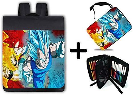 Pack Pack Pack sac à dos ytuche Dragon Ball Super Gods SSJ School matériel | Matériaux Sélectionnés Avec Soin  385915