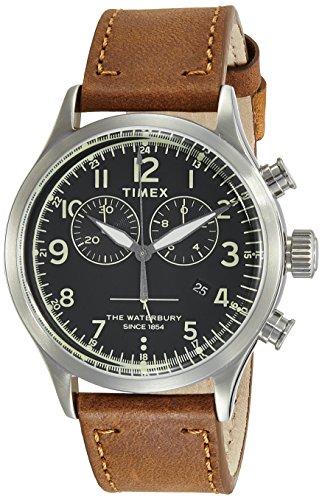 Timex Waterbury Traditional Chronograph Analog Black Dial Unisex Watch-TW2R70900