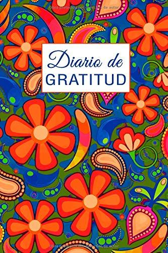 Diario de Gratitud: 30 Semanas de Beinestar y Felicidad, Papel Pintado Floral de los 70