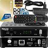 HD-LINE Decoder Satellitare TV SAT/Decoder Tivusat/Decoder IPTV/Tivùsat/Decoder TV SAT/Sky HD/Cam Tivusat HD 4K Satellitare con Scheda Ricevitore Tvsat Decoder con Scheda WiFi, Nero