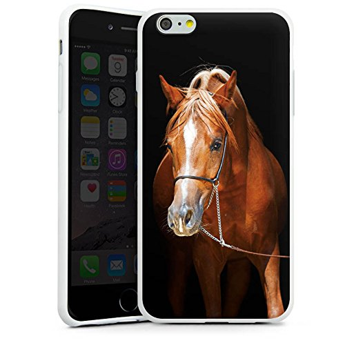 Apple iPhone X Silikon Hülle Case Schutzhülle Pferd Horse Stute Hengst Silikon Case weiß