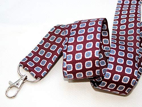 Schlüsselband Seide Stoff twill Schlüsselkette Paisley Muster 35 mm rot - Paisley-stoff Rot,